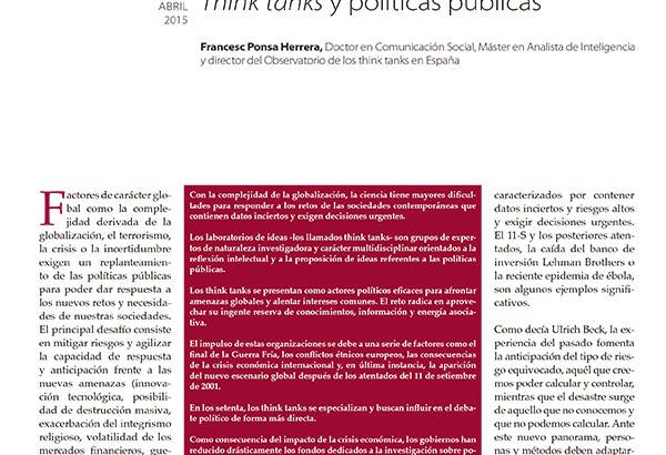 Think Tanks y políticas públicas